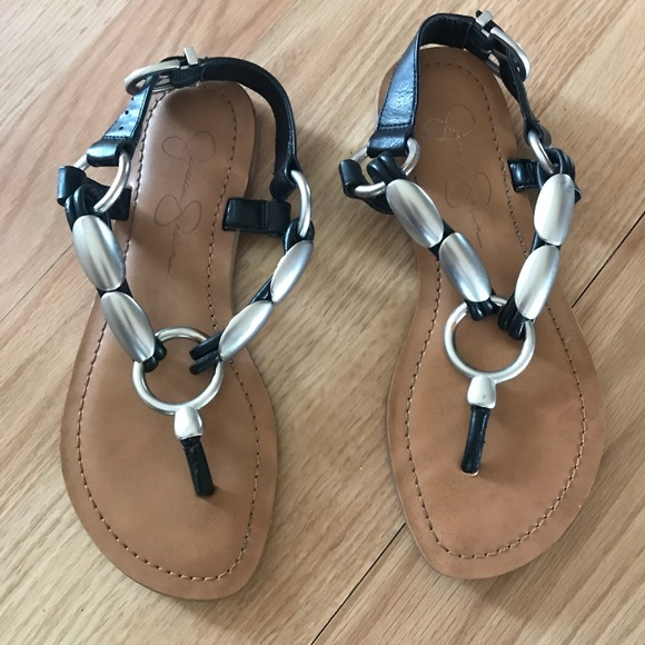 7e6e150d8a27a1 Jessica Simpson Shoes - JESSICA SIMPSON SILVER SANDALS.